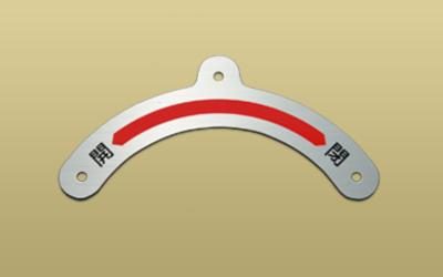 ステンレス HL エッチング 機械銘板