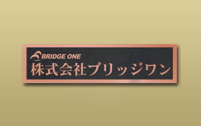銅ブロンズ HL 箱型 エッチング 館銘板